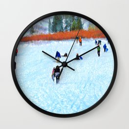 Sledders Wall Clock