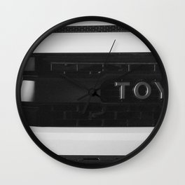 """""""TOY"""" Tundra // Black and White Monster Truck Geared Out Big Wheels Matte Black Grille Wall Clock"""