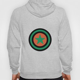 star green orange 4 Hoody