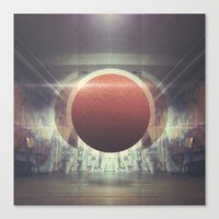 spaceship Canvas Prints featuring Spaceship by nois7