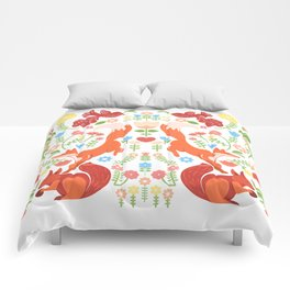 Early Fall Festive Flower Frolic Comforters