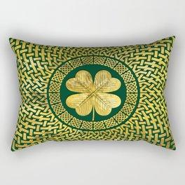 Irish Four-leaf clover with Celtic Knot Rectangular Pillow