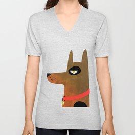Pinscher Dog Unisex V-Neck