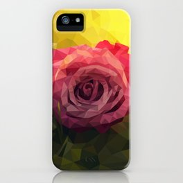 Rose Polygon Art iPhone Case