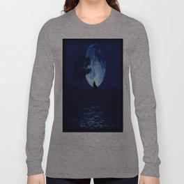 Blue moon wolf Long Sleeve T-shirt