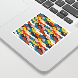 COLORED DOGS PATTERN 2 Sticker