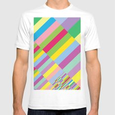 Stairs to Office  [COLORS] [COLOR] [COLORFUL]  MEDIUM White Mens Fitted Tee