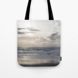 Silver Scene ~ Ocean Ripple Effect Tote Bag