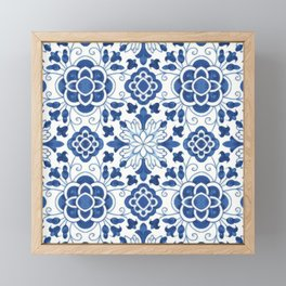 Azulejos Framed Mini Art Print