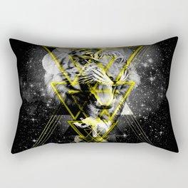 Cosmic Tiger B&W Rectangular Pillow