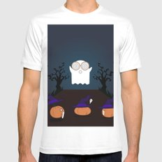 Trick or treat! MEDIUM White Mens Fitted Tee