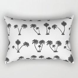 solar palm beach in a dark color Rectangular Pillow