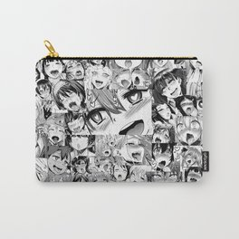 Ahegao Hentai Girls Anime Collage Carry-All Pouch