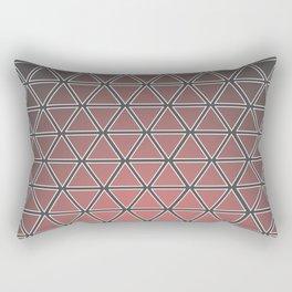 Triangular, Pink Rectangular Pillow