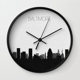 City Skylines: Baltimore Wall Clock