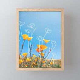 Orange Poppy Field Framed Mini Art Print