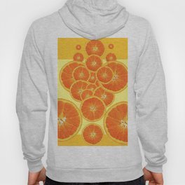 CONTEMPORARY ORANGE SLICES  ABSTRACT MODERN ART Hoody