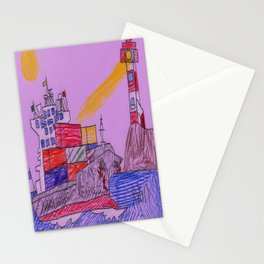 Lighthouse Warning Stationery Cards
