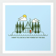 Tiny Forest by the Sea Art Print