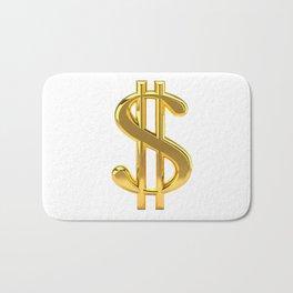Gold Dollar Sign on White Badematte