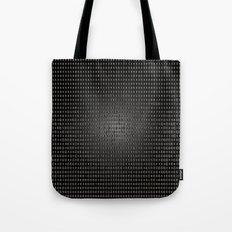 Black Dot Matrix Tote Bag