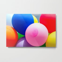 Beautiful Colorful Toy Balloons Metal Print