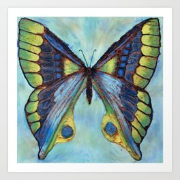 Patina Butterfly Art Print