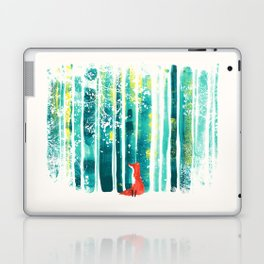 Fox in quiet forest Laptop & iPad Skin