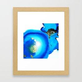 Blue Agate Framed Art Print