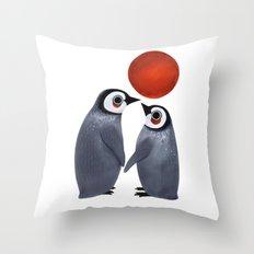 Penguin Love Throw Pillow