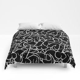 Schlong Song in Black, All the Penis! Comforters
