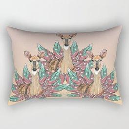 Deer Totem Rectangular Pillow