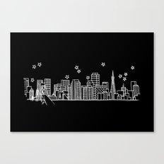San Francisco, California City Skyline Canvas Print