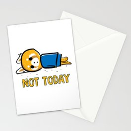 Not Today says aggretsuko Stationery Cards
