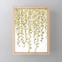 golden string of pearls watercolor 2 Framed Mini Art Print