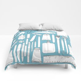Art Mind Heart Body (blue, black, red) Comforters