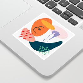 abstract dripping Sticker