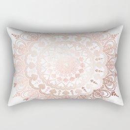 Love Mandala Rose Gold Rectangular Pillow