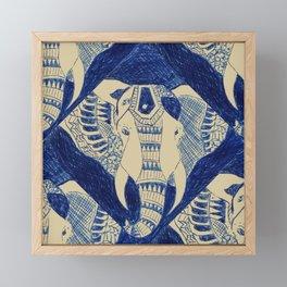 Elephant Doodle #1 Framed Mini Art Print