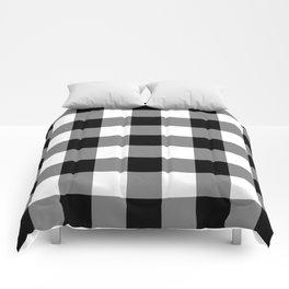 Black and White Buffalo Plaid Comforters