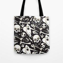 black Skulls and Bones - Wunderkammer Tote Bag