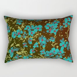 turquoise floral Rectangular Pillow