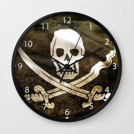 Pirate Skull in Cross Swords Wall Clock
