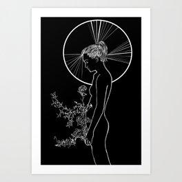 Contour Line Drawing #ArtPrint Art Print