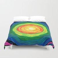 big bang Duvet Covers featuring Big Bang by Shalimar Luis
