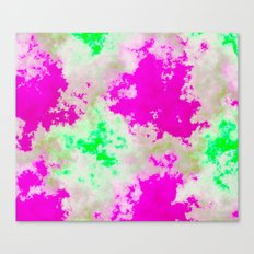 Pink and green clouds Canvas Print
