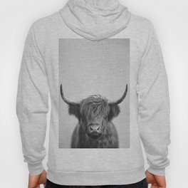 Highland Cow - Black & White Hoody