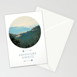 Adventure Awaits, Adventure Awaits Art Print, Inspirational Quote, Minimalist Decor, Fun, Typography Art Print, Positivity Art Print, Motivational Quote, Motivational Art, Positivity Art Print, Nature, Minimalist Stationery Cards