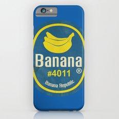 Banana Sticker On Blue Slim Case iPhone 6