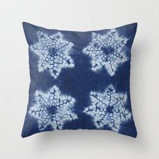 Shibori five Throw Pillow